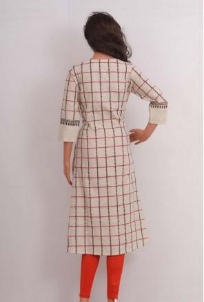 Cotton Cheks pattern kurti