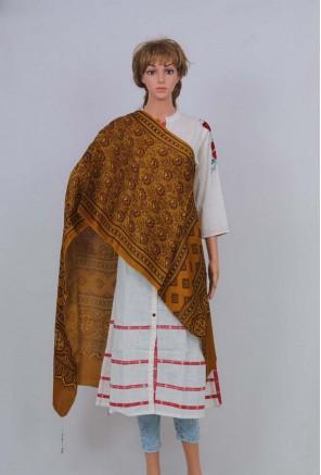 Ajrakh Mashru Silk Stole