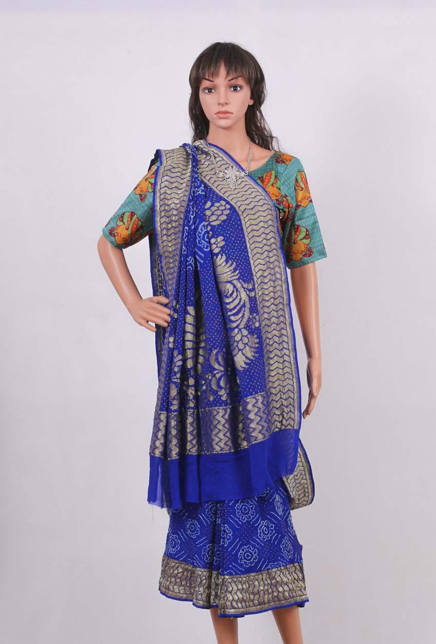 Pure Georgette Banarasi Bandhani Saree