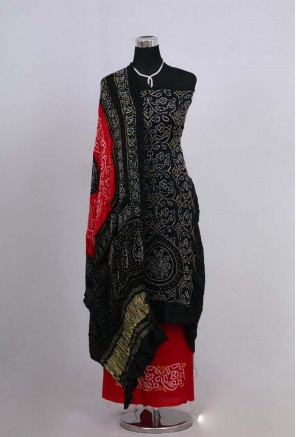 Gajji Silk Shikari Bandhani suit