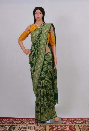 Pure Georgette Banarasi Bandhani Handloom Saree