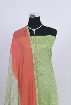 Cotton chikankari Unstitched Salwar Suit