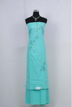 Cotton embroidery designer Unstitched Salwar Suit