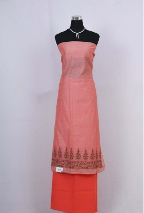 Chanderi mirror work Unstitched Salwar Suit