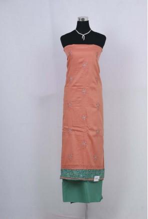 Cotton chikankari work Unstitched Salwar Suit