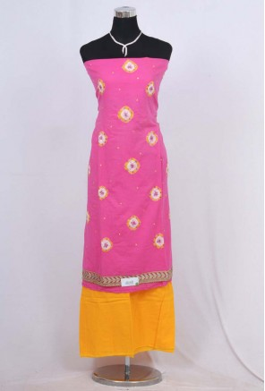 Cotton bandhani Unstitched Salwar Suit