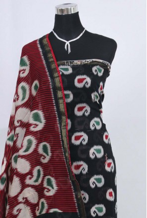 Cotton ikkat printed Unstitched Salwar Suit