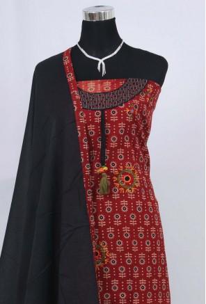 Cotton ajrakh Unstitched Salwar Suit