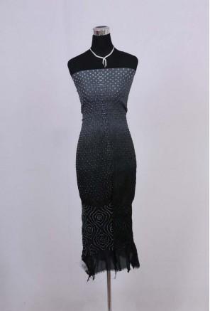 Silk Designer bandhani unstitched kurti